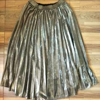 Midi silver skirt