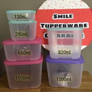 Tupperware Freezermate 130ml - 1000ml