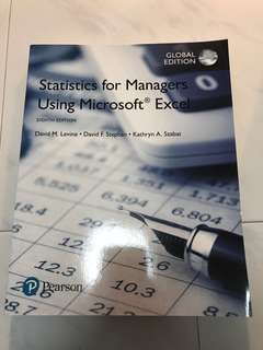Pearson Statistics for Managers Using Microsoft Excel