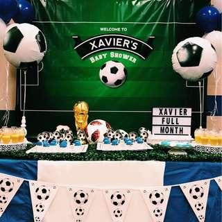 Soccer dessert table