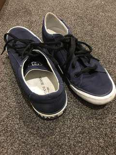 ARMANI JEANS Blue sneakers runners - size 36