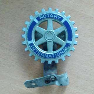 Rotary International Car Badge Vintage