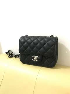 Chanel classic flap mini square caviar