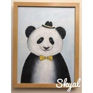 Mr Panda Canvas - 油畫連框