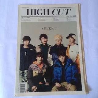 High Cut magazine - Super Junior - Dream High - Suzy - newspaper like magazine - Kyuhyun donghae eunhyuk leeteuk ryeowook yesung tag photocard photo card