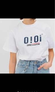 OIOI 2018新款經典logo短T