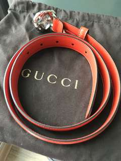 Gucci brand new women's leather belt