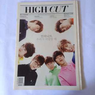 High Cut magazine - Infinite - L woohyun hoya dongwoo sungjong sungyeol B.A.P tag photo card photocard