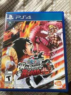 PS4 One Piece Burning Blood Used