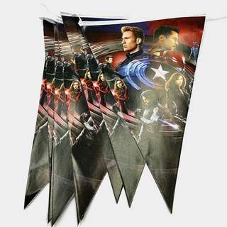 💥Superheroes Civil War Avengers party supplies - Avengers banner / bunting / party deco