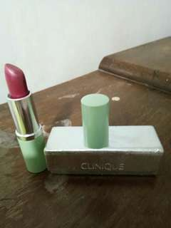 Clinique lipstick with mirror silver case