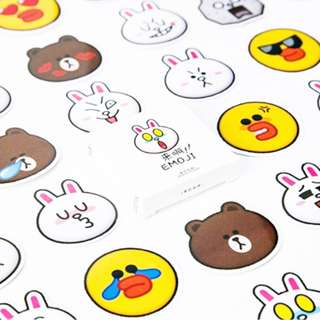 ☺️BN INSTOCKS Adorable Line Friends Stickers