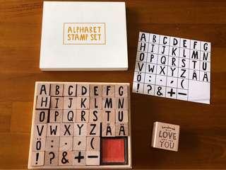Kikki K Alphabet Stamp Set and free stamp