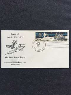 "US 1972 BOPEX ""Mr Zip's Space Flight"" Event Cover stamp"