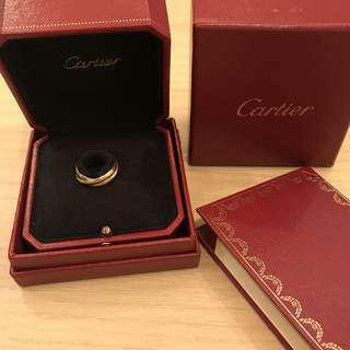 🚚 Cartier Trinity 三色金戒指 保證正品 付保卡