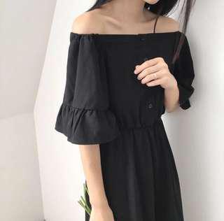 BN Black Off Shoulder Dress