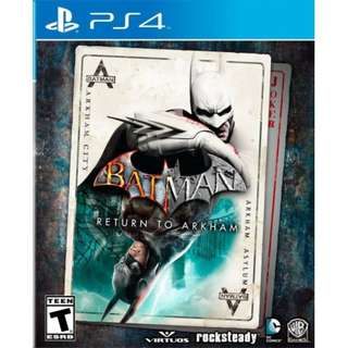 [NEW NOT USED] PS4 Batman: Return to Arkham SONY Action Adventure Warner Home Video