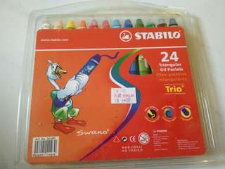 Almost New Stabilo 24 Rectangular Oil Pastels
