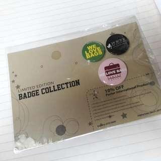 (包郵) Porter international Badge Collection 襟章