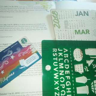 Starbucks Vouchers and Desk Calendar