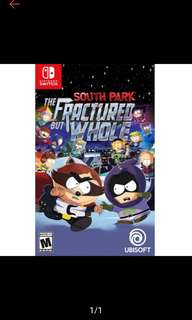 🚚 South Park Fractured but Whole Nintendo Switch
