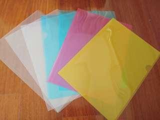 🚚 彩色+無色透明L型資料夾