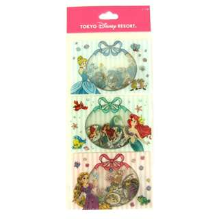 Last Piece Ready Stock Japan Tokyo Disney Resort Disneyland Disneysea Princess Cinderella Ariel Rapunzel Seal Stickers Set