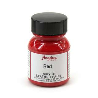 RED LEATHER ACRYLIC PAINT - ANGELUS