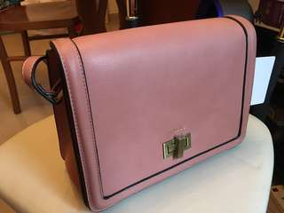 Mizzue Leather handbag pink (Tuen mun town plaza pick up / SFEXPRESS) 25x20x8cm