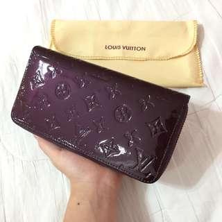 [New] Louis Vuitton Long Wallet Monogram Vernis (Amarante)