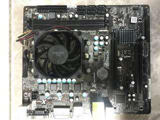AMD A8-5600 CPU 連 Asrock FM2A75M-DGS MATX板