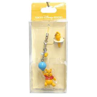 Last Piece Ready Stock Japan Tokyo Disney Resort Disneyland Disneysea Winnie The Pooh Balloon Phone Strap with earphone stud