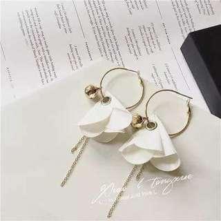 🚚 🌹超仙花朵耳環💫氣質長款永生花瓣耳環森系氣質簡約🌺$590