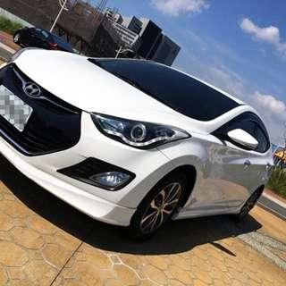 2013年 現代汽車Elantra 白色旗艦款