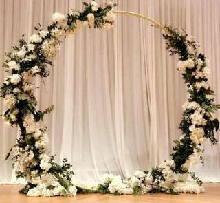 Gold full round floral arch