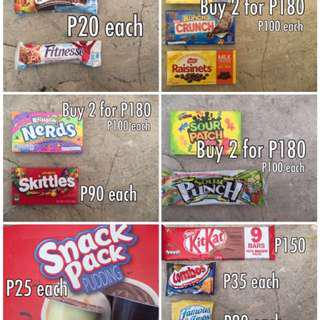 Nerds Skittles Snack Pack Kitkat Sour Patch Raisinets Crunch Fitnesse Koko Krunch Combos