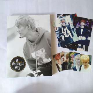 Luhan photobook - A Better Day - with posters illustrated mouse pad note pad postcard photocard photo card