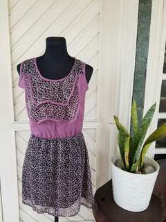 Purple Animal Print Dress