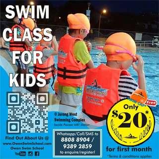 $20 Kids Swimming Class
