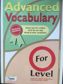 O level Vocabulary Assessment book