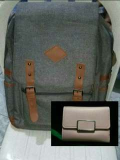 BACKPACK WITH A FREE WALLET