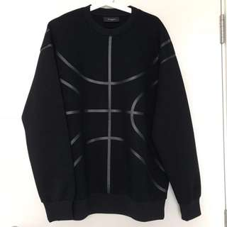 Authentic Givenchy Black Neoprene Basketball Sweatshirt