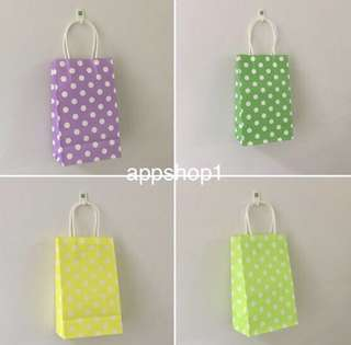Polka dot paper bag, Kraft bag for event door gift, goodie bag packages