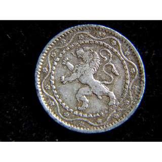 1916年比利時王國皇家立獅國徽5仙鋅幣(德軍佔領時期)