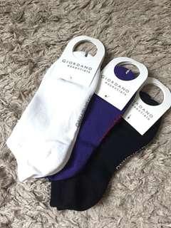 Giordano 女裝短襪x3,全新,顏色如圖