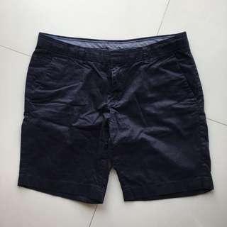 Uniqlo 女生短褲 深藍 M號