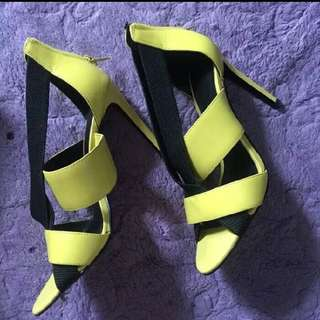 Pedro heels yellow 35