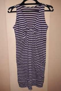 Striped Purple Dress