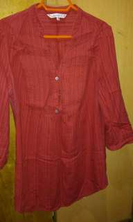3/4 long sleeve blouse