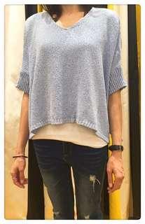 🚚 藍色針織衫